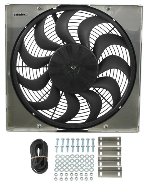 electric radiator fans and shrouds derale 17 quot high output electric radiator fan w aluminum