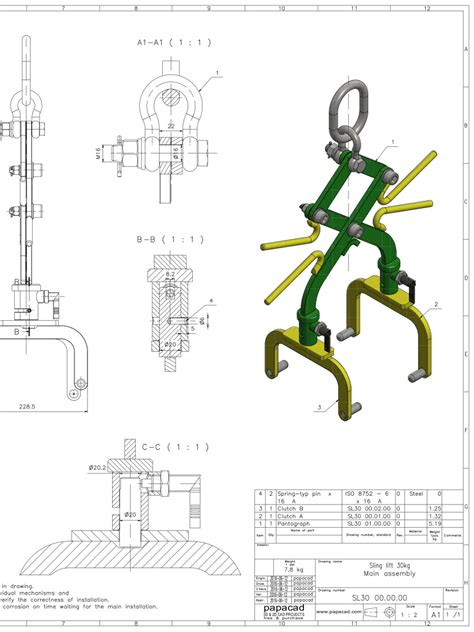cad drawing free cad drawings scissor sling 3d cad models free