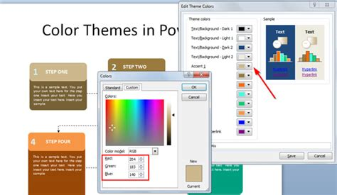 Working With Custom Color Palettes In Powerpoint 2010 Powerpoint 2013 Custom Templates