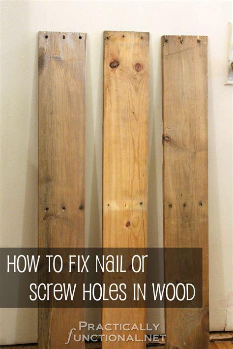 fix nail  screw holes  reclaimed wood