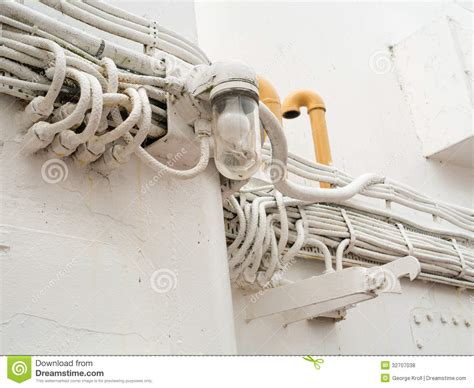 Ship Electrical Wiring And Light Royalty Free Stock Photos Landscape Electrical Wiring