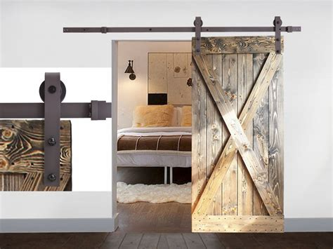 Black Coffee Antique Style Steel Sliding Barn Rustic Wood Barn Style Sliding Door Hardware