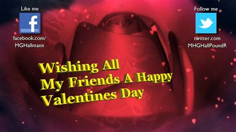 happy valentines to my family and friends valentines day card for my friends and family