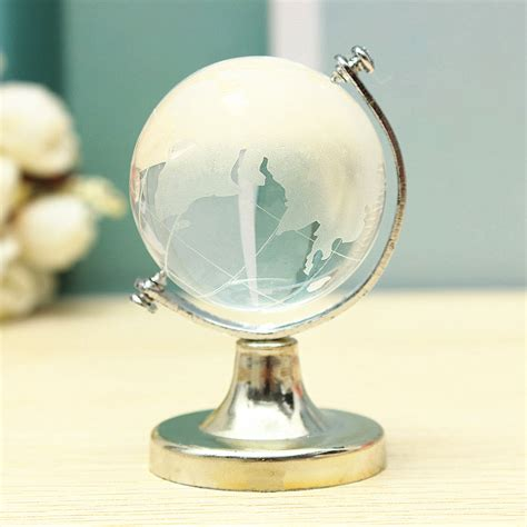 Desk Globe Picture More Detailed World Globe Glass Clear Paperweight Wedding Favor