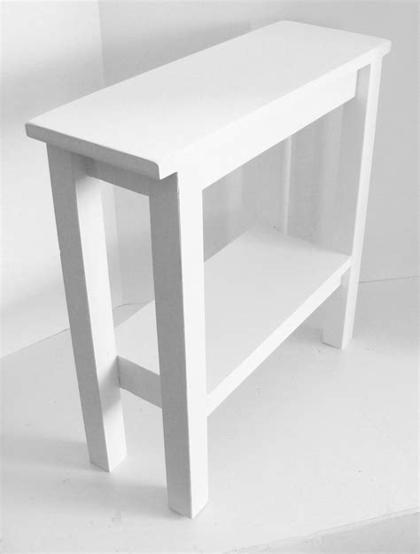 thin accent table modern narrow table end table side table narrow table