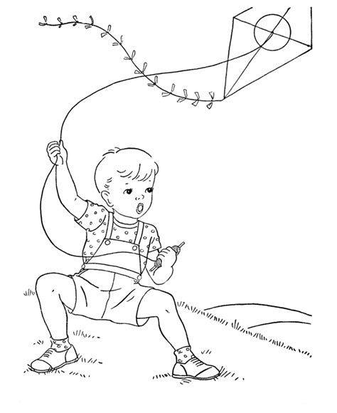 Kite Color Page Az Coloring Pages Coloring Pages Kite Flying