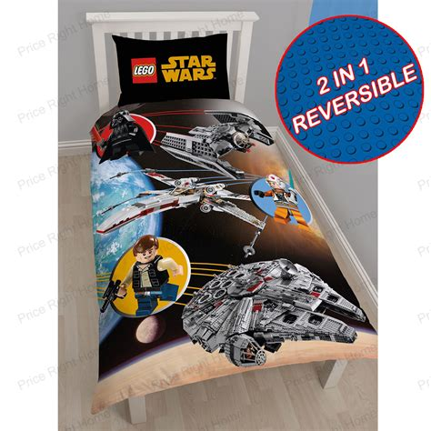 lego star wars space single duvet cover set new bedding