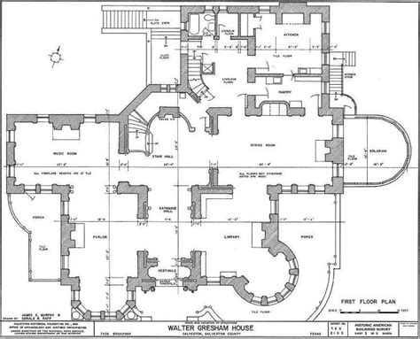 mansion layouts bishop s palace galveston floor architecture plans
