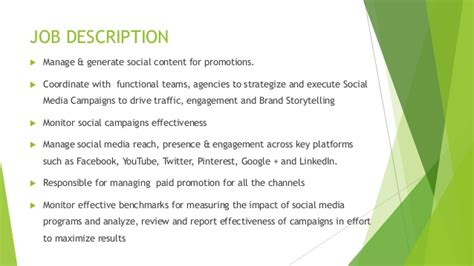 social media manager description description social media marketing manager in it company