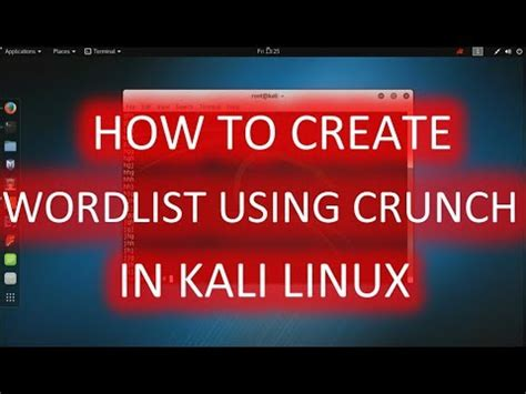 kali linux crunch tutorial full download create wordlist with crunch in kalilinux