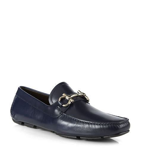 ferragamo shoes for ferragamo driving shoes in black for lyst