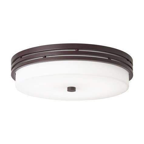 Bronze Flush Mount Ceiling Light Shop Kichler Lighting 14 In W Olde Bronze Led Ceiling Flush Mount Light At Lowes