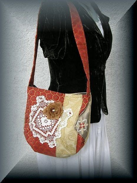 Handmade Cloth Purses - handmade fabric bag embellished purse by