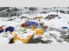 A Scene of Destruction After Ice Thunders Into Everest ... 2015 Mount Everest Deaths