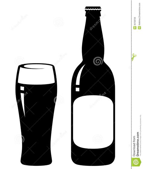 beer bottle and glass royalty free stock image image