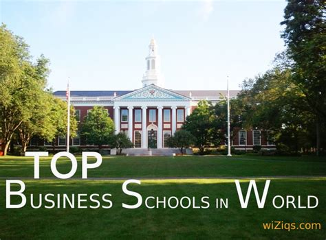 How Many Mba Schools In The World by List Of Top Business Schools Across The Globe