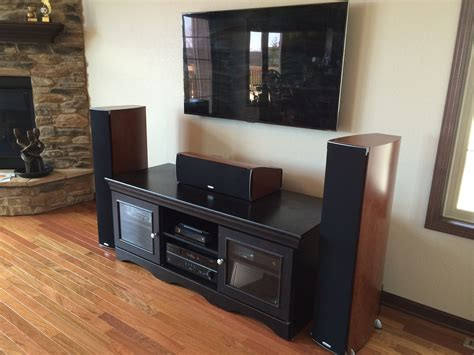 premium home theater system  wall mounted flat panel