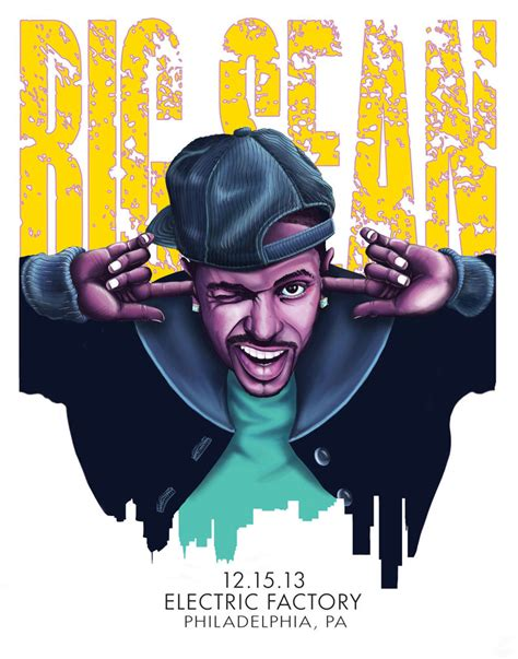 big sean poster big sean gig poster by billdoyleart on deviantart