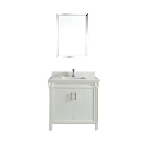 36 white bathroom vanity with top 36 inch white finish bathroom vanity quartz top in white