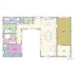 maison en u piscine plan 10 pi 232 ces 181 m2 dessin 233 par