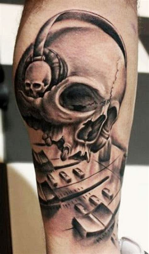 skull music tattoo designs skull tattoos for top 30 skull designs