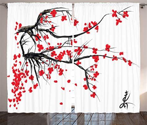japanese decor curtains 2 panels set cherry blossom home japanese curtains decor by ambesonne sakura blossom