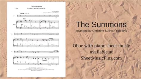 The Summons the summons oboe with piano sheet