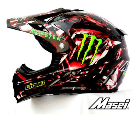 monster energy motocross helmet masei hjc cirus 307 red bull monster energy drinks