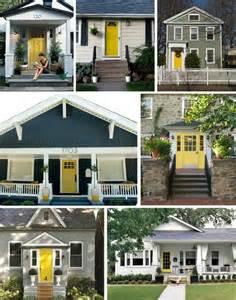 gray house yellow door yellow doors house remodeling ideas pinterest