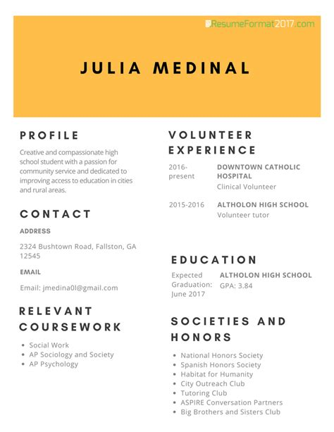 Scholarship Resume Exles by Description Professional Scholarship Resume Format 2017 Resume Format 2017