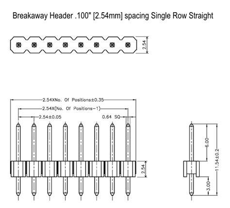Pin Header 1x40 1x5 Single Row 254mm enterprises product listing hws1730