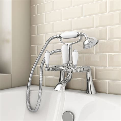 traditional bath shower mixer lancaster traditional bath shower mixer with shower kit at