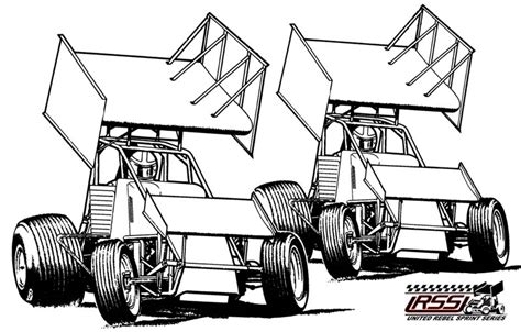 sprint car coloring page free dirt late model coloring pages