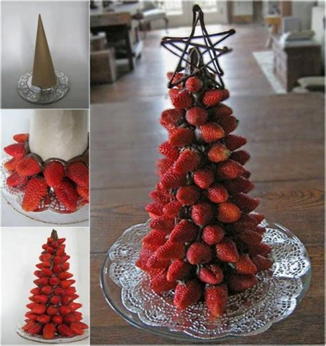 how to make cute strawberry christmas trees step by step