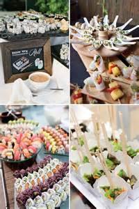 food stations at wedding reception