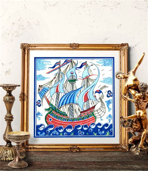 turkish home decor turkish ottoman galleon home decor ottoman ship iznik tile