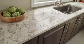 kitchen room scene romano white quartz countertop