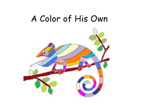 a color of his own a color of his own