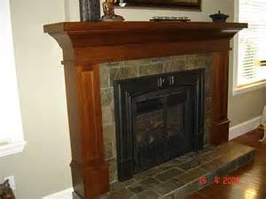 craftsman style fireplace mantel craftsman style