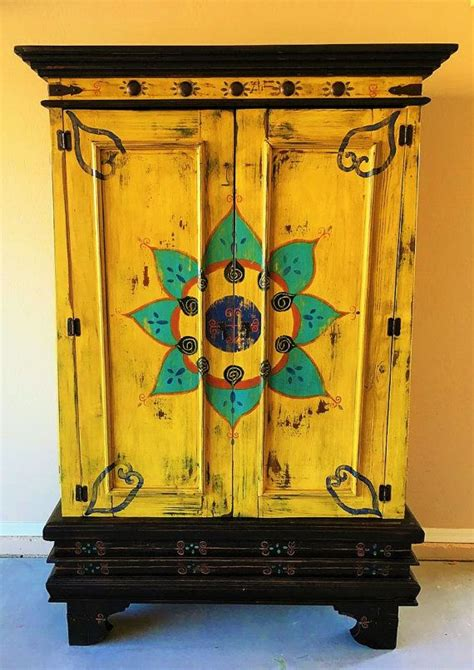 hand painted bathroom cabinets best 25 mexican furniture ideas on pinterest art