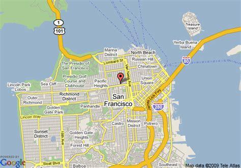 hotel kabuki san francisco map map of hotel kabuki san francisco