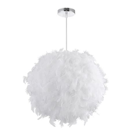 Feather Pendant Light White Pink Birds Feather Pendant Light Chandelier Shade Style L Ebay