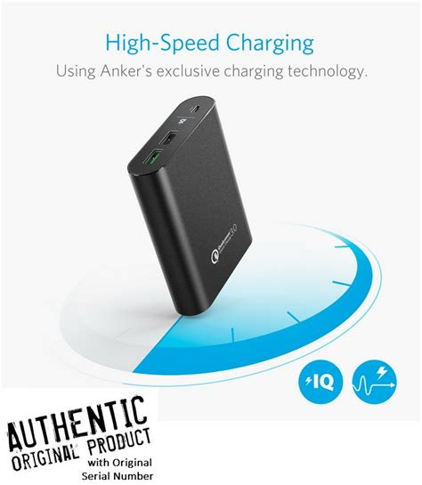 anker qualcomm 3 0 anker powercore quick charge 3 0 qualcomm powerbank