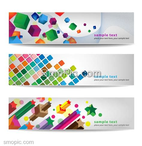 16 web banner design background images cool website