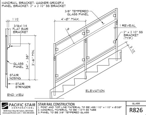 Handrail Construction Detail downloads and details pacific stair corporation