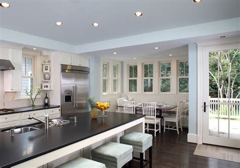 Woodlawn Blue Kitchen by Impressive Breakfast Nooks In Kitchen Transitional With Woodlawn Blue Next To Kitchen Nook
