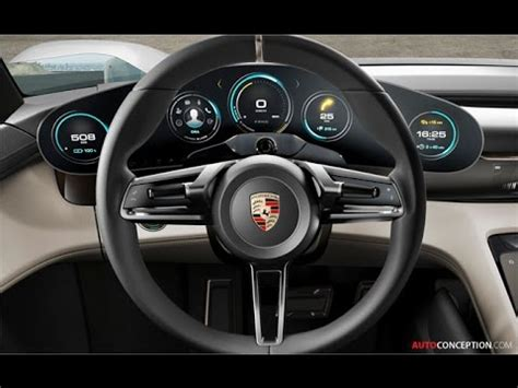 porsche concept interior car design porsche mission e concept interior