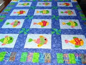 all things quilty and artsy something quot fishy quot kid s quilt