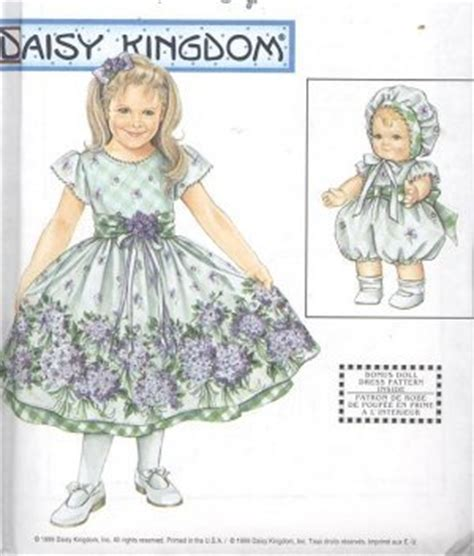 clothes pattern store daisy kingdom dress with baby doll clothes pattern s 9096