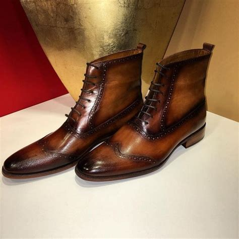 Handmade Ankle Boots - handmade brown lace up leather boot brown ankle